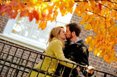 Liz and Colin Kissing Under A Tree